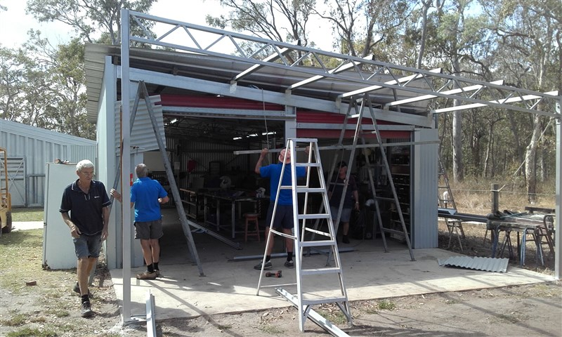 Extension to the metal fabrication shop almost complete.