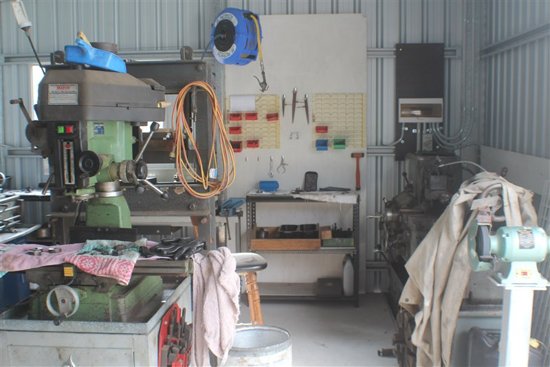 Inside the metal machine shop
