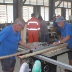 One of our table saws in use